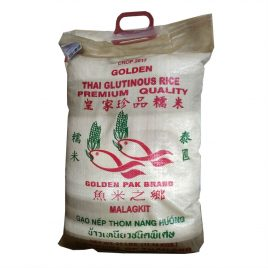 "Golden Pak ""Two Fish"" Thai Sweet Rice – 25 LB"