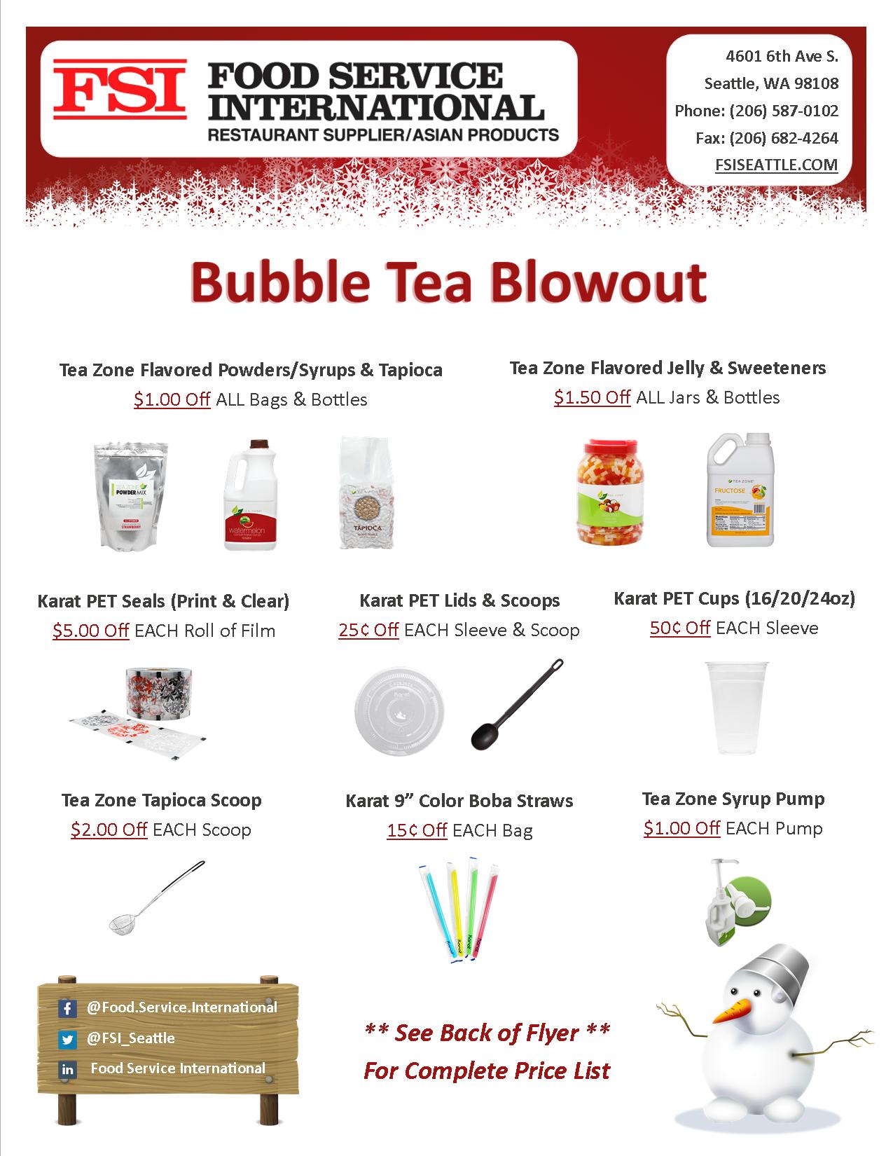 Bubble Tea Blowout - Front