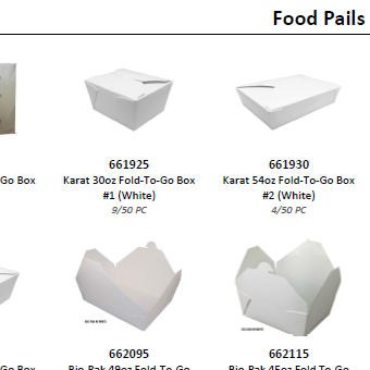 Nonfood Product Catalog